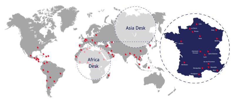 carte monde simon associes - Bureaux Simon Associés, en France et à l'International
