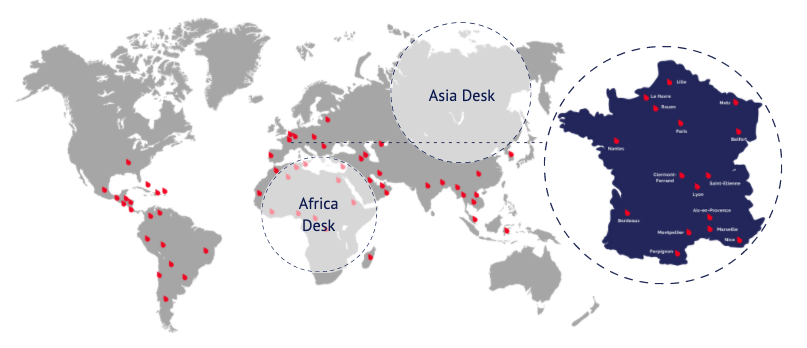 carte monde simon associes - Simon Associés Desks, in France and Worldwide